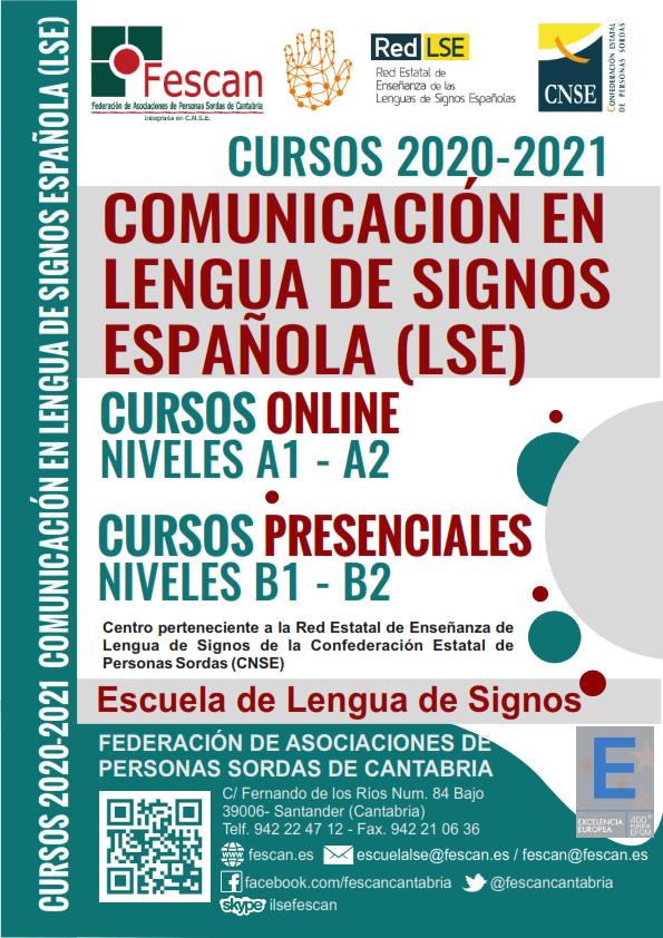 CURSOS DE LENGUA DE SIGNOS DE FESCAN PARA EL CURSO 2020-2021