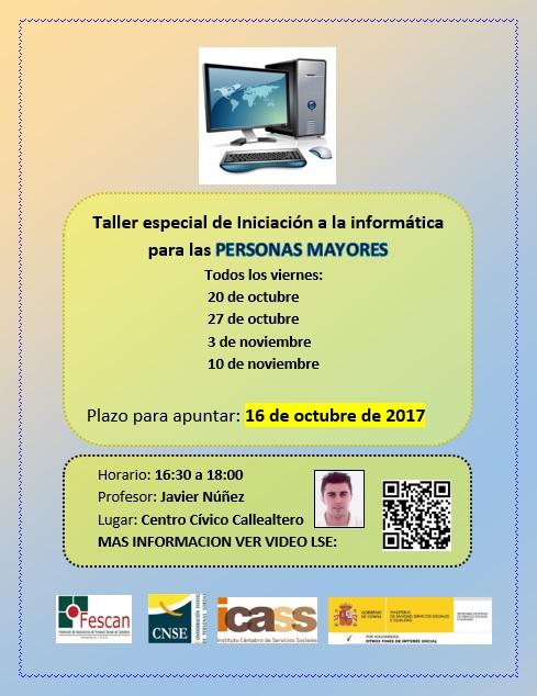 TALLER ESPECIAL DE INICIACIÓN A LA INFORMÁTICA PARA PERSONAS MAYORES)