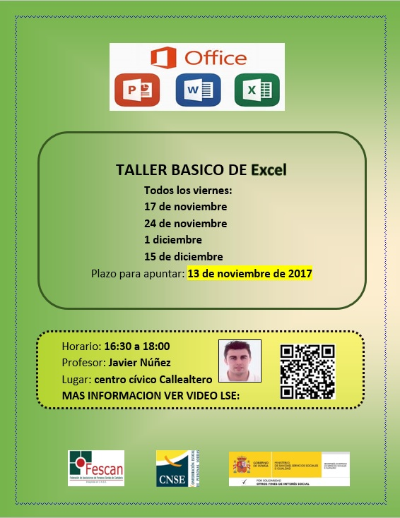 TALLER BÁSICO DE EXCEL