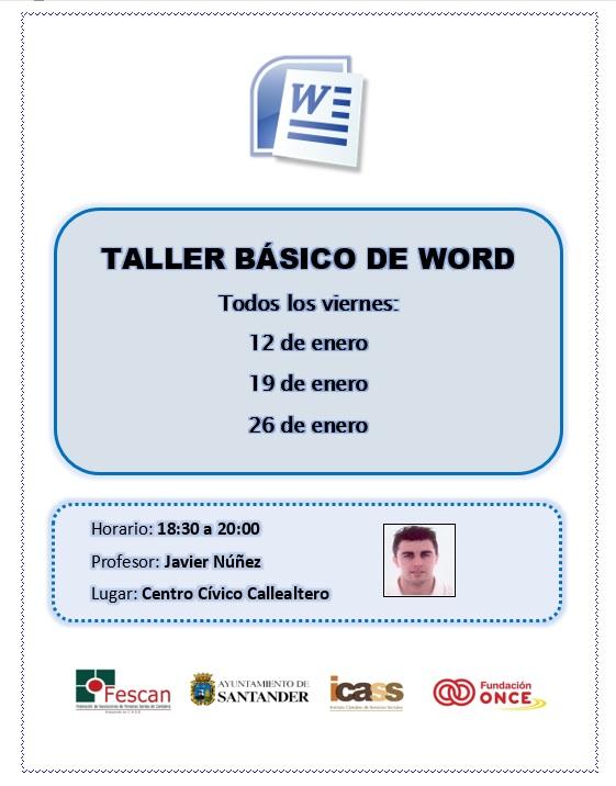 TALLER BÁSICO DE WORD