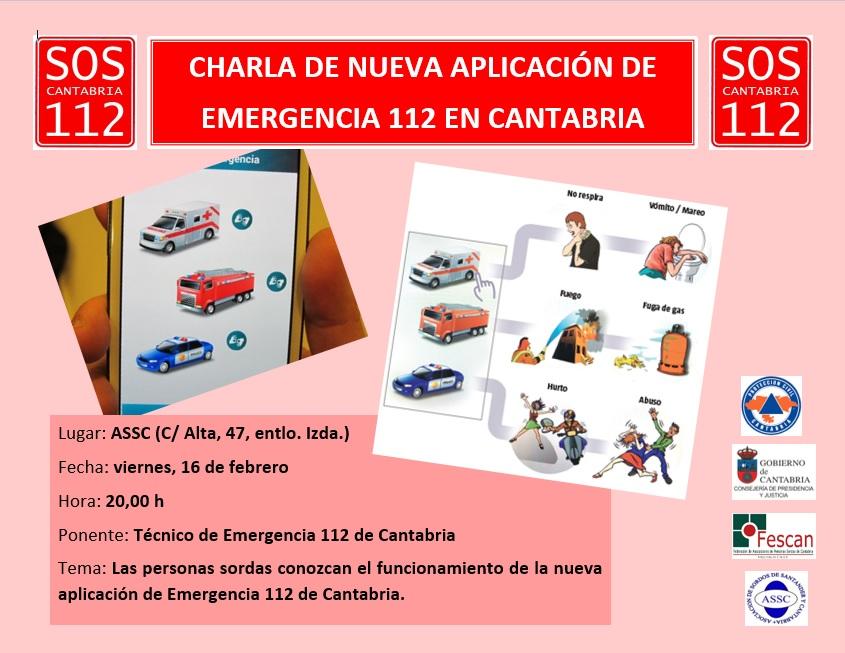 CHARLA SOBRE LA NUEVA APP DEL 112 CANTABRIA