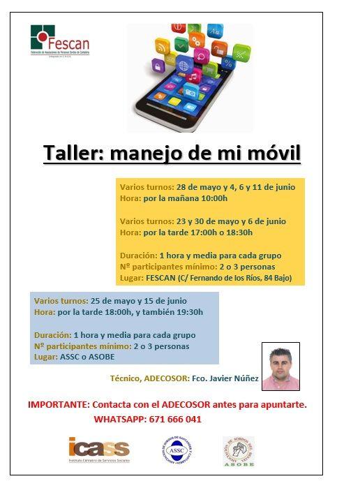 TALLER: MANEJO DE MI MÓVIL