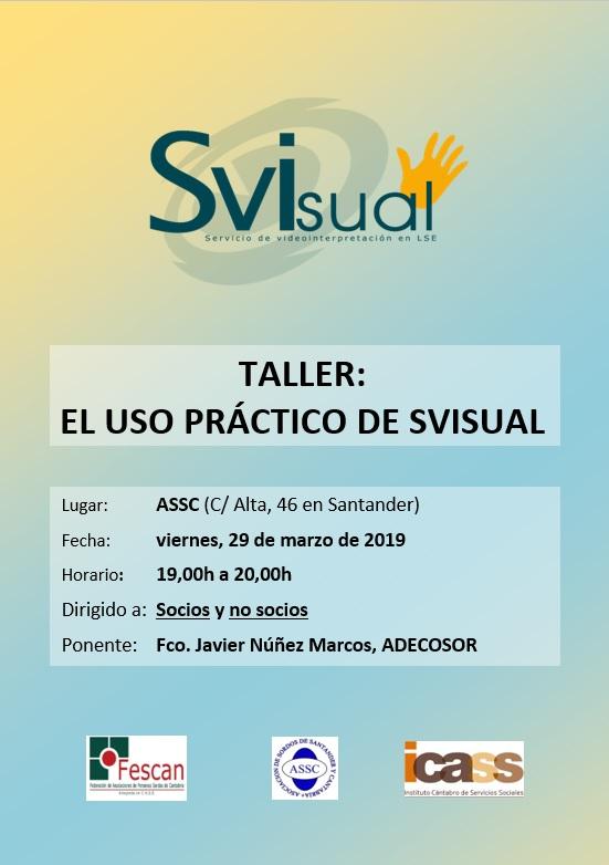 TALLER: EL USO PRÁCTICO DE SVISUAL