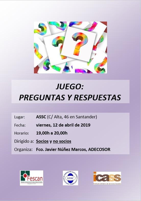TARDE DE JUEGOS DE PREGUNTAS Y RESPUESTAS EN LA ASSC