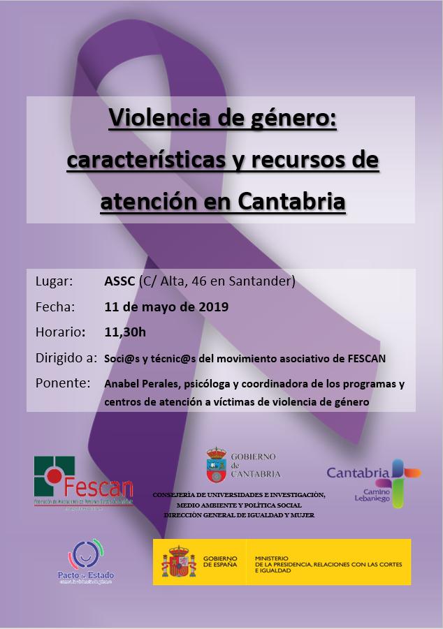 CHARLA: VIOLENCIA DE GÉNERO. CARACTERÍSTICAS Y RECURSOS DE CANTABRIA