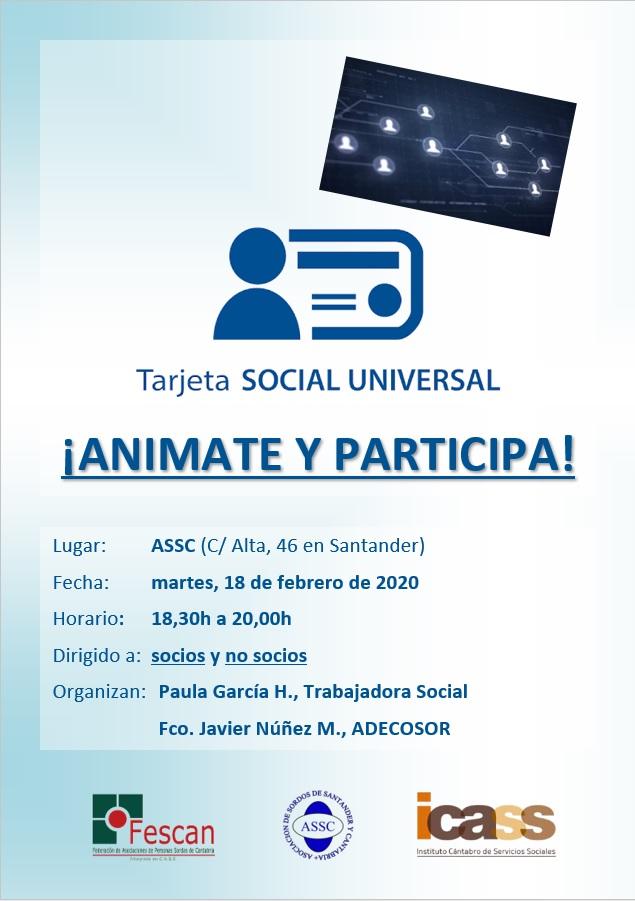 TALLER SOBRE LA TARJETA SOCIAL UNIVERSAL
