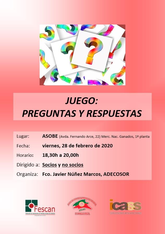 JUEGO DE PREGUNTAS EN LA ASSC EL 28 DE FEBRERO