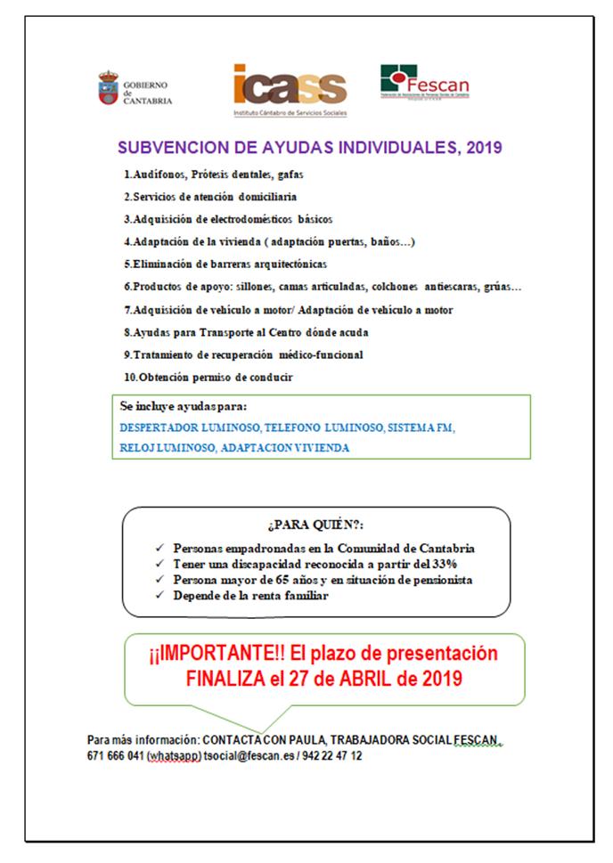 AYUDAS INDIVIDUALES 2019