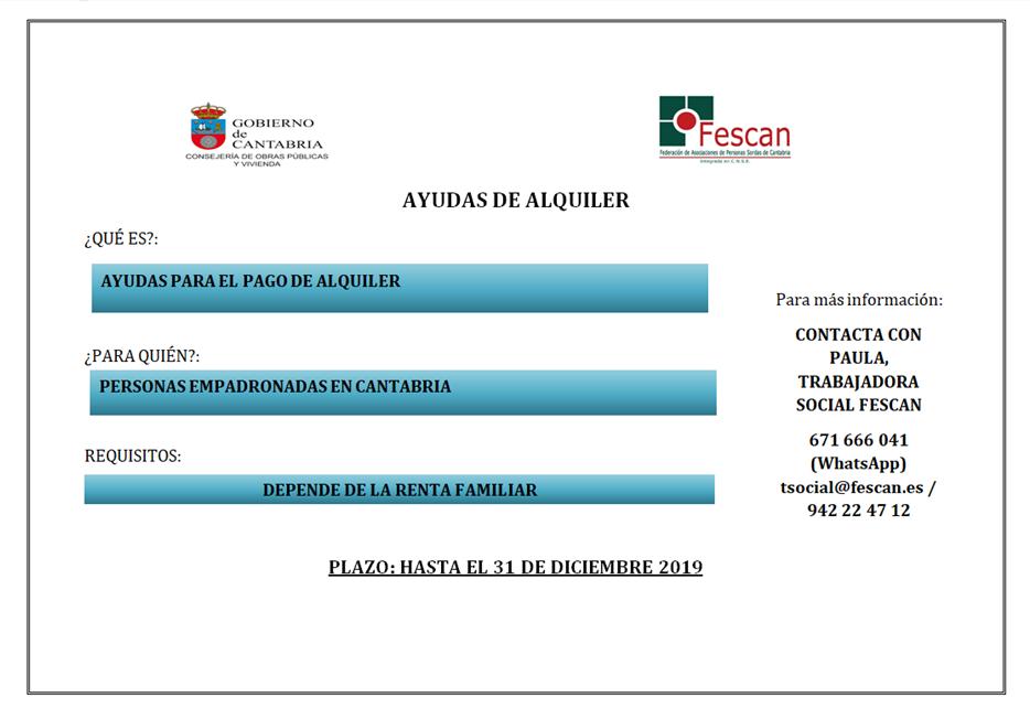 AYUDAS DE ALQUILER 2019