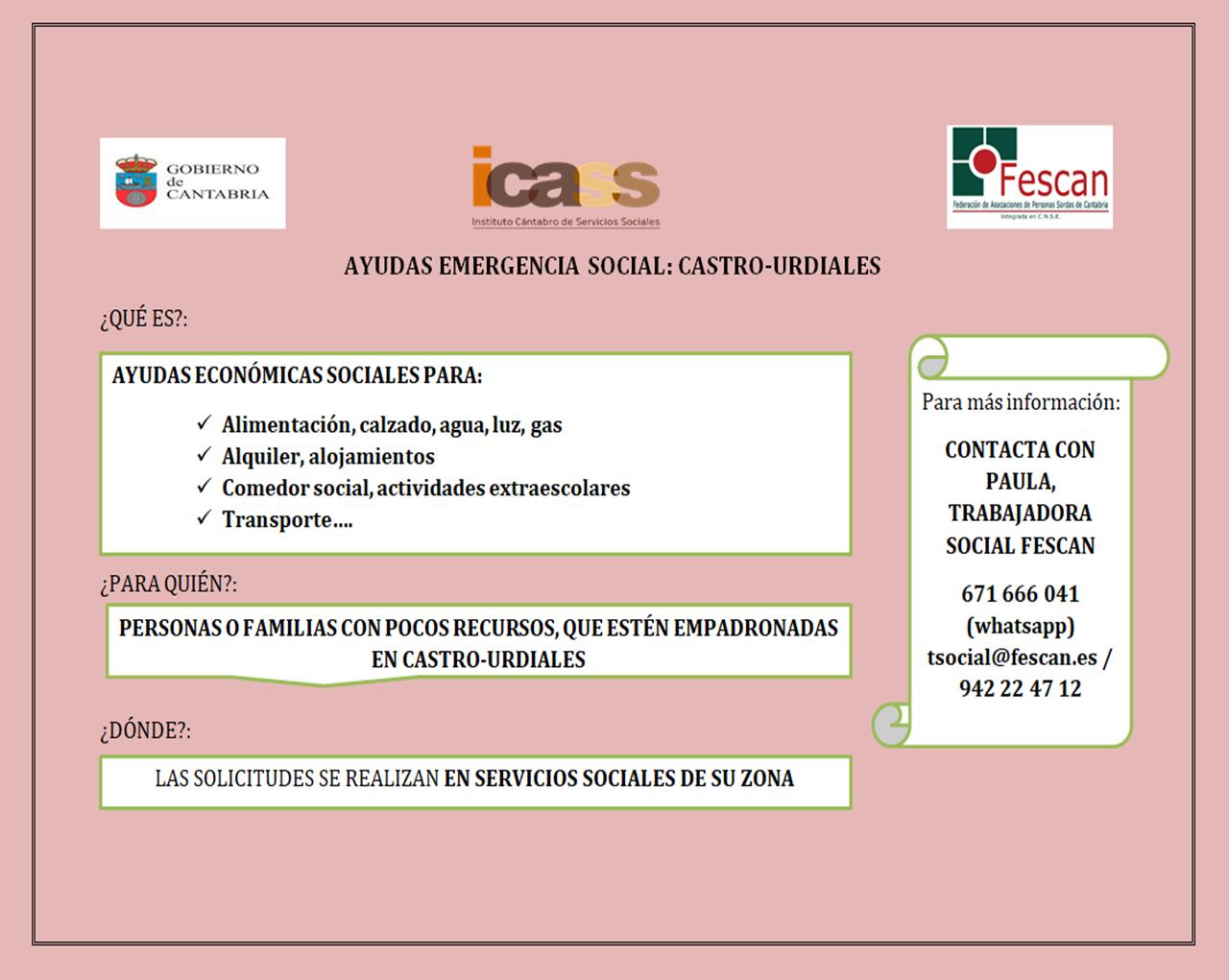 AYUDAS DE EMERGENCIA SOCIAL - CASTRO URDIALES