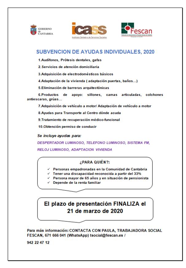 AYUDAS INDIVIDUALES 2020