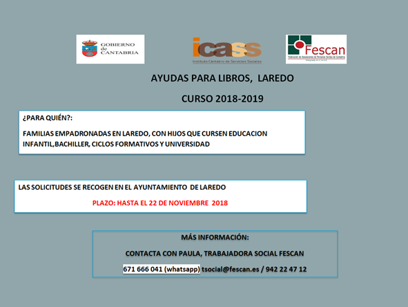 AYUDAS PARA LIBROS DE TEXTO Y MATERIAL ESCOLAR