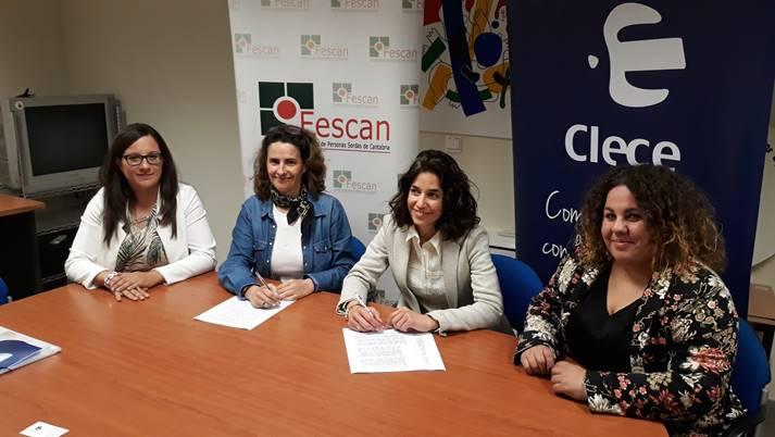 CONVENIO DE COLABORACIÓN ENTRE CLECE Y FESCAN