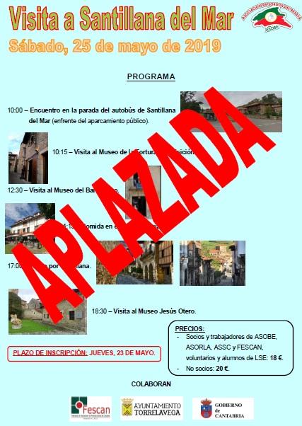ATENCIÓN: APLAZADA LA VISITA A SANTILLANA DEL MAR DE ASOBE