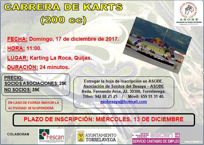 ATENCIÓN: ANULADA LA CARRERA DE KARTS CON ASOBE