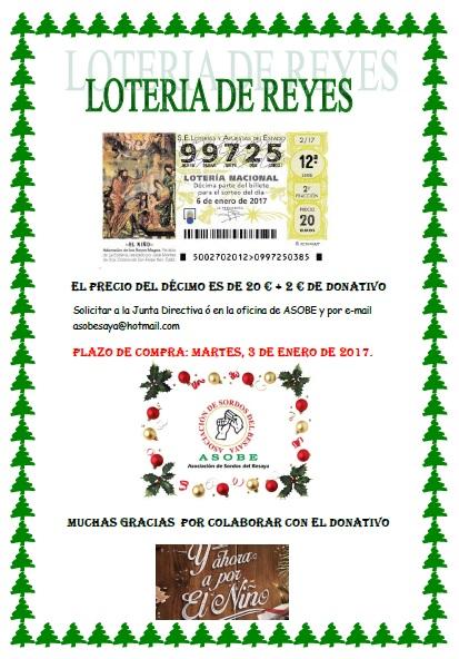 Lotería de Reyes ASOBE