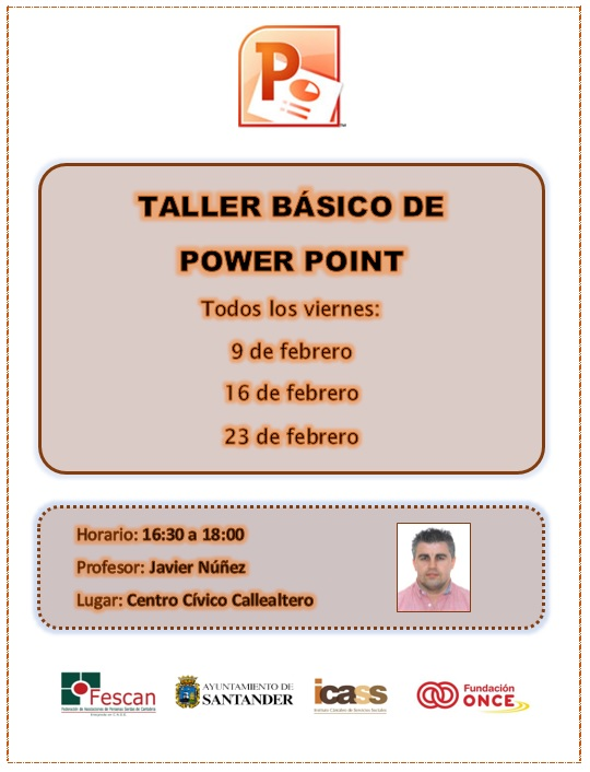 Cartel Taller básico de Power Point 2