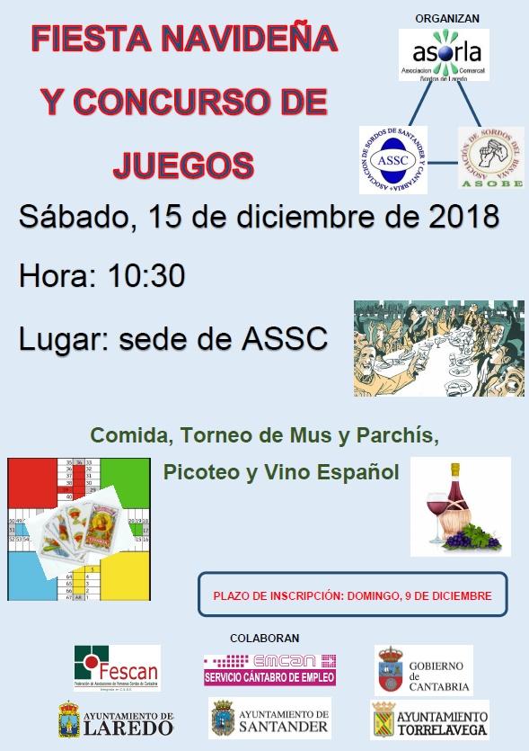 FIESTA NAVIDEÑA Y CONCURSO DE JUEGOS
