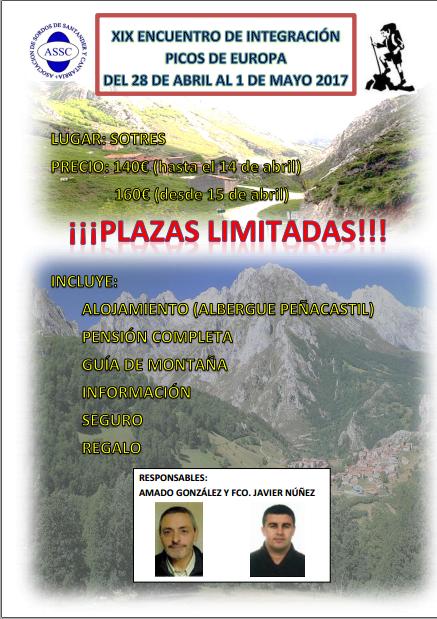 XIX Encuentro de Integración Picos de Europa
