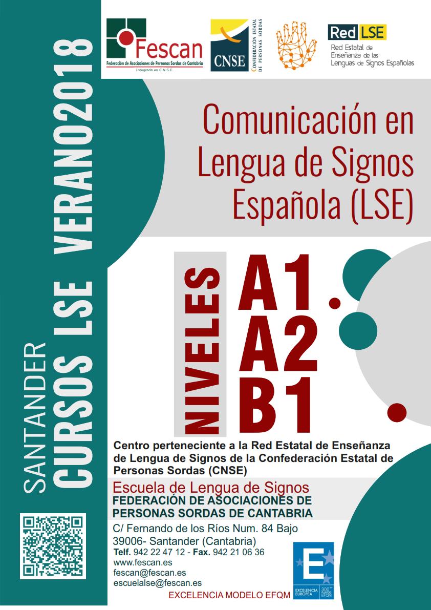 CURSO DE VERANO DE COMUNICACIÓN EN LENGUA DE SIGNOS ESPAÑOLA 2018