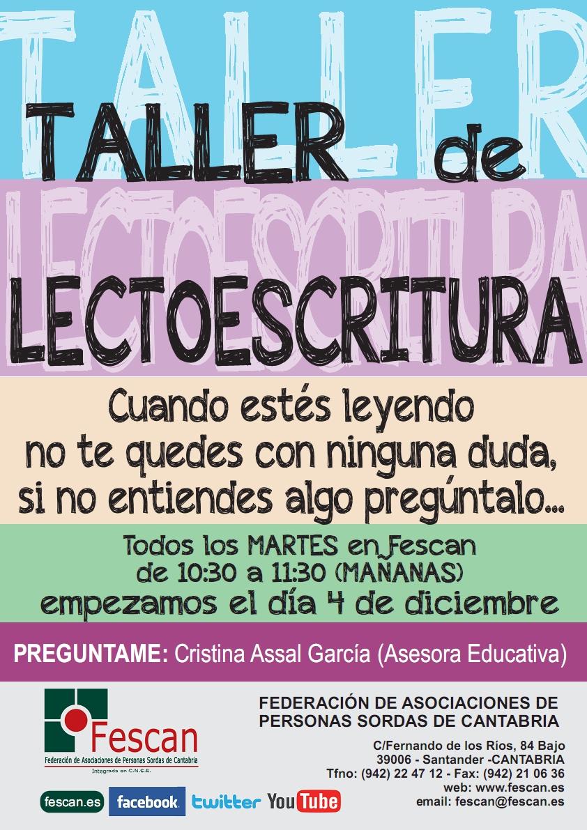 TALLER DE LECTOESCRITURA EN FESCAN 2018-2019