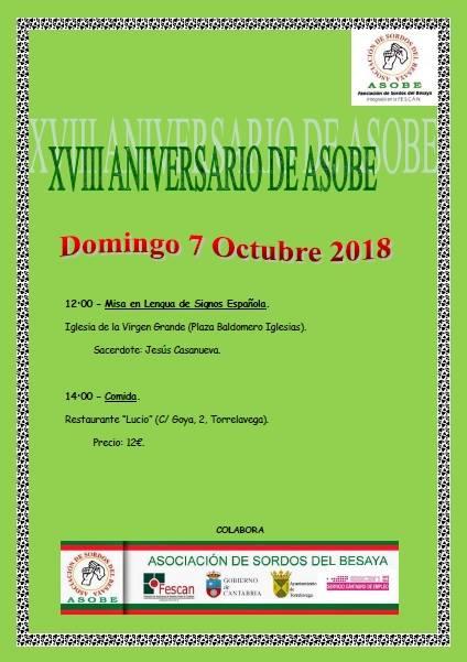 XVIII ANIVERSARIO DE ASOBE