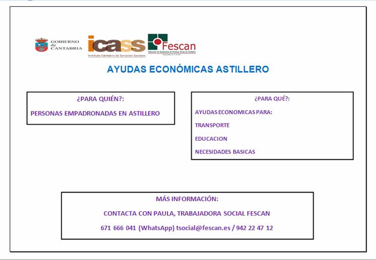 AYUDAS ECONÓMICAS AYUNTAMIENTO DE ASTILLERO