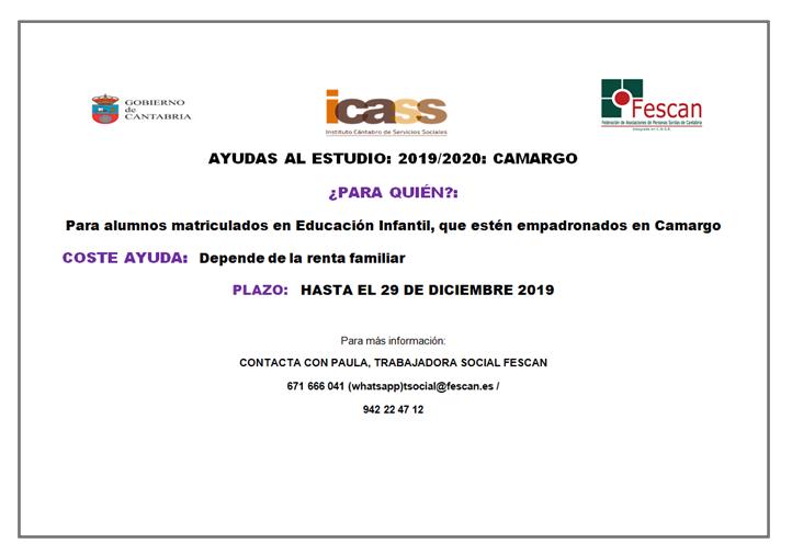AYUDAS PARA EL ESTUDIO EN CAMARGO