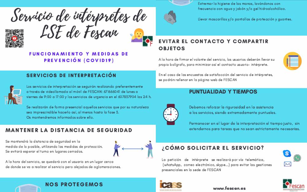 INFORMACIÓN SOBRE EL SERVICIO DE INTÉRPRETES DE LSE DE FESCAN