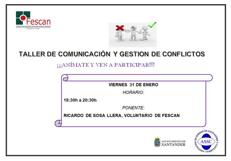 TALLER DE COMUNICACIÓN Y GESTIÓN DE CONFLICTOS
