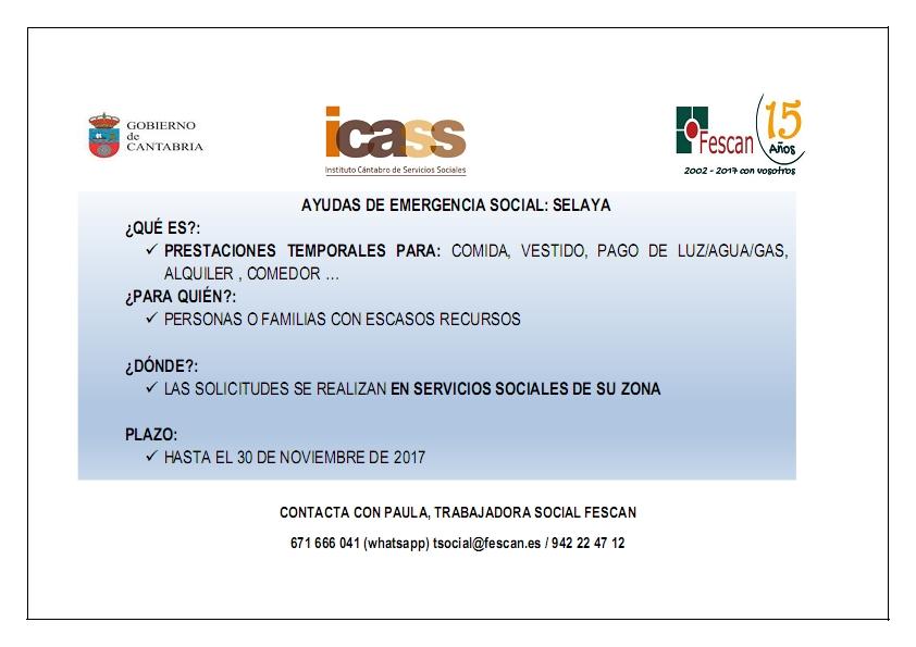 AYUDAS DE EMERGENCIA SOCIAL -SELAYA