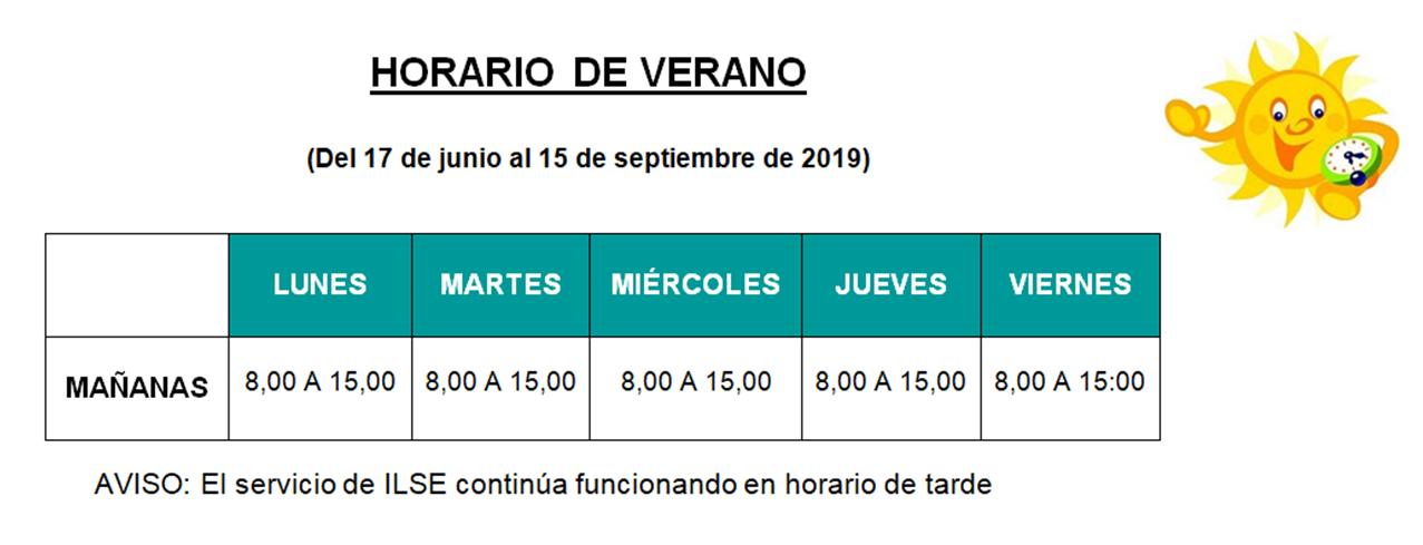 HORARIO DE VERANO DE FESCAN 2019