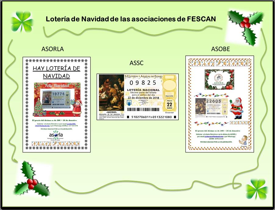 LOTERÍA DE NAVIDAD ASOCIACIONES DE FESCAN 2018