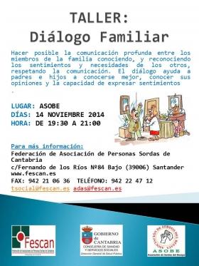 cartel dialogo familiar