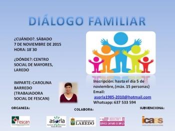 cartel dialogo familiar LAREDO