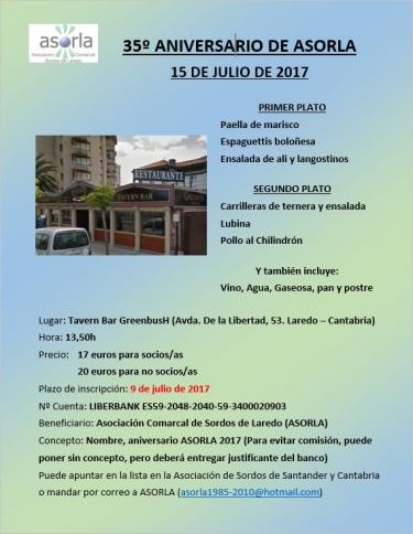 ANIVERSARIO ASORLA 2017