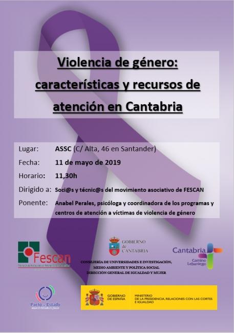 2019-05-11 Cartel CHARLA VIOLENCIA DE GENERO ASSC