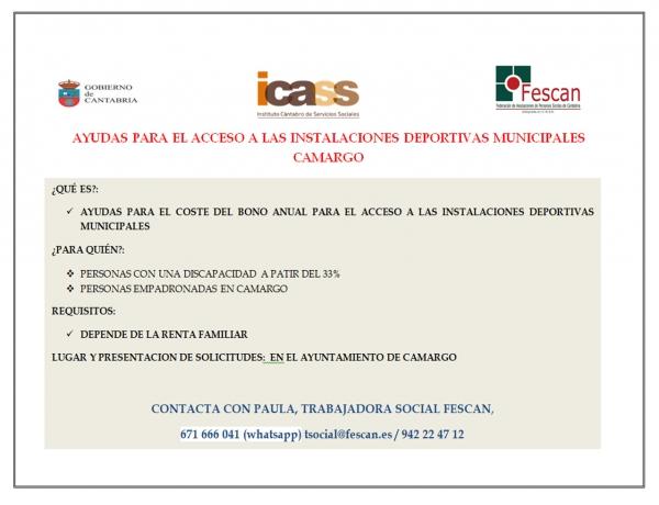 Ayudas instalaciones deportivas Camargo