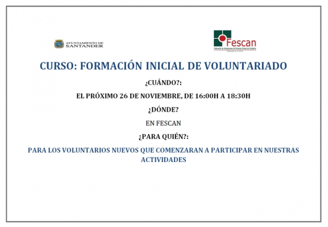 curso inicial voluntariado nov