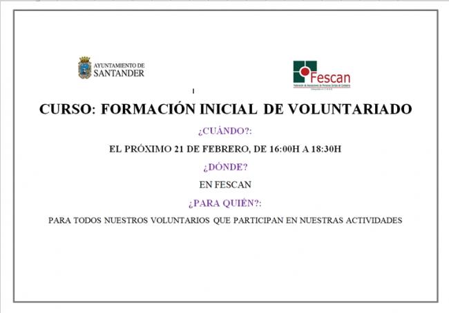 curso voluntariado 2019