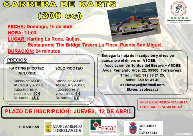 Cartel karting 15.04.2018