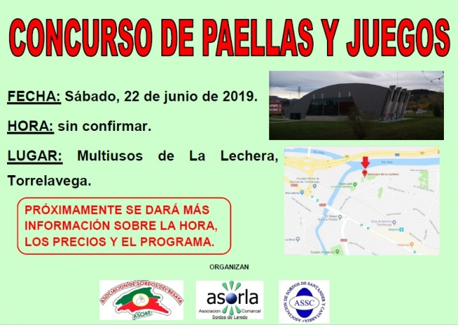 Cartel - Concurso paellas - 22.06.2019