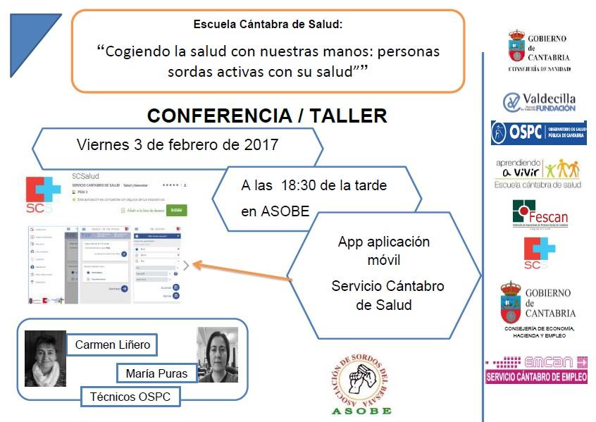 Conferencia/Taller APP Servicio Cántabro de Salud