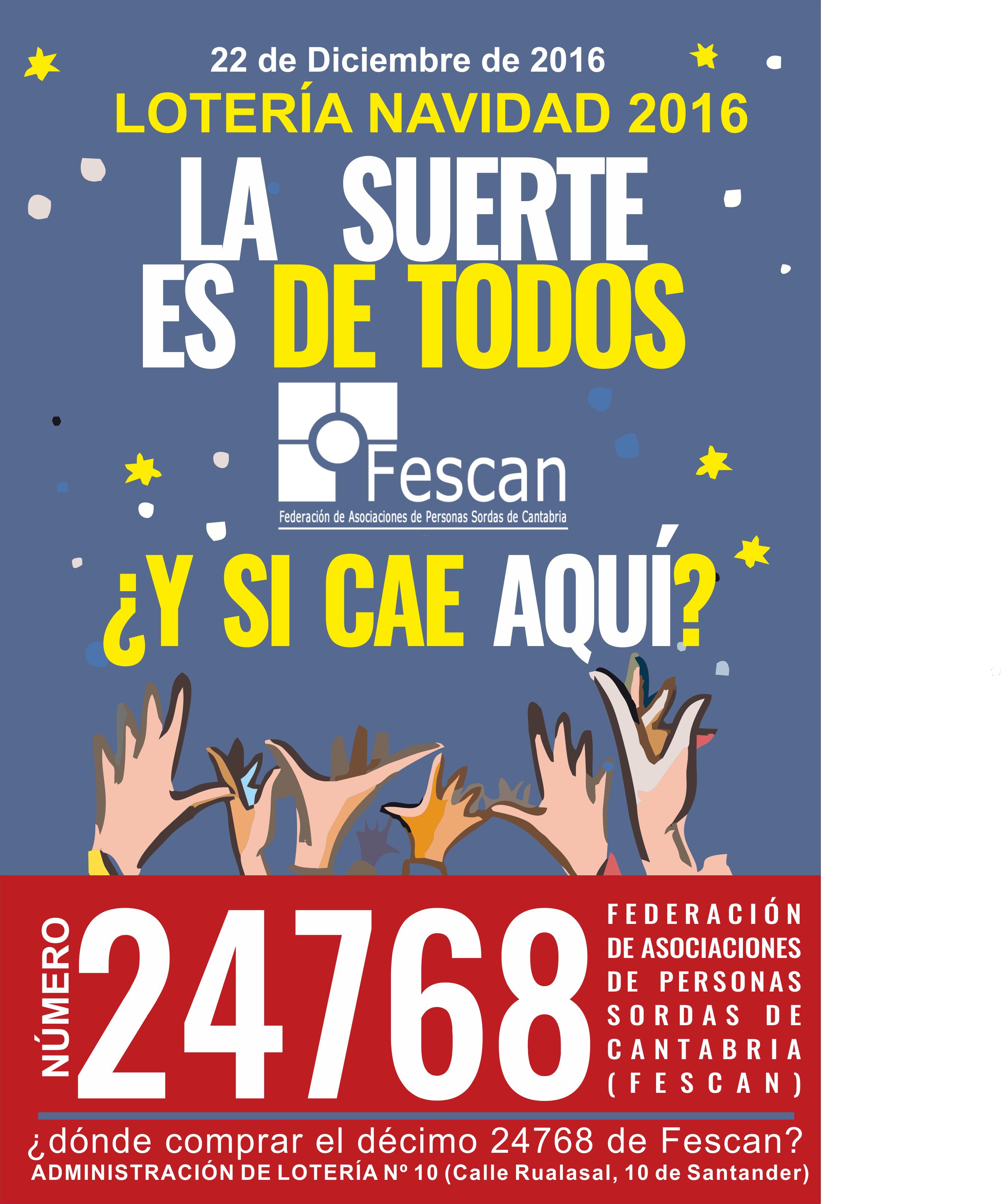 Lotería de Navidad de FESCAN 2016