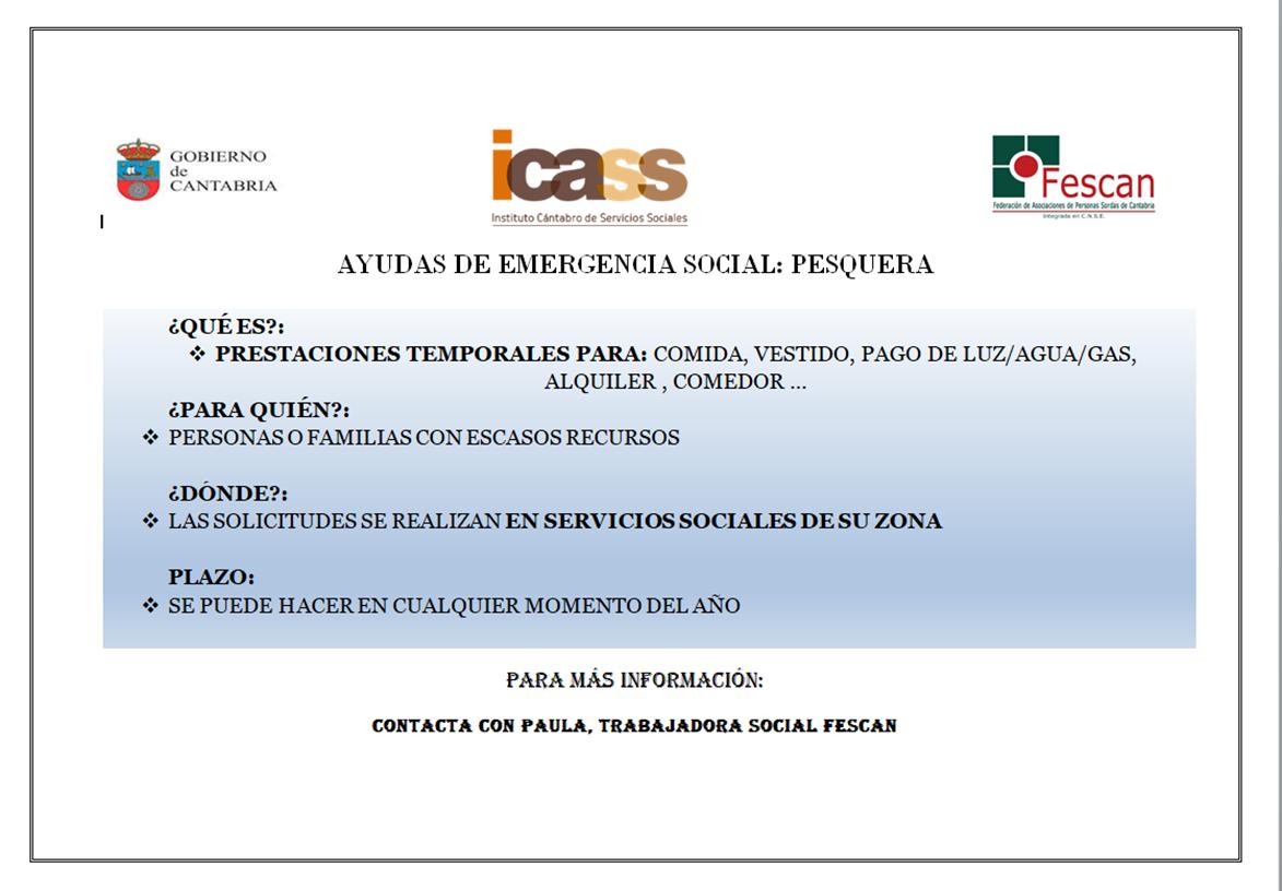 AYUDAS EMERGENCIA SOCIAL PESQUERA