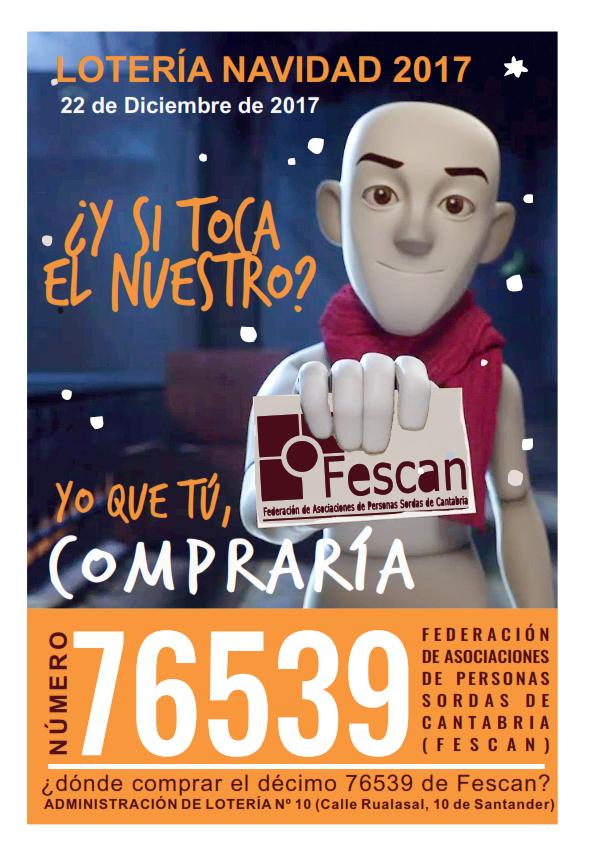 LOTERÍA DE NAVIDAD DE FESCAN 2017
