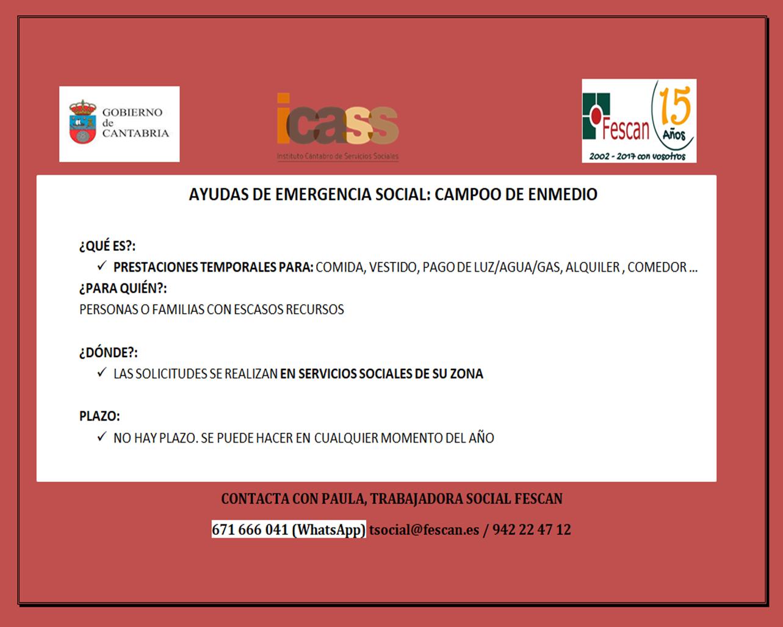 AYUDAS DE EMERGENCIA DE CAMPOO DE ENMEDIO
