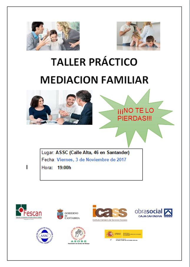 TALLER PRÁCTICO DE MEDIACIÓN FAMILIAR