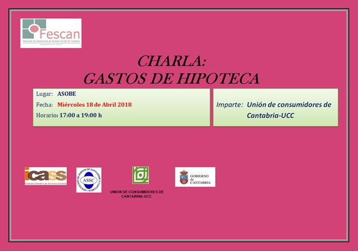 CHARLA: GASTOS DE HIPOTECA