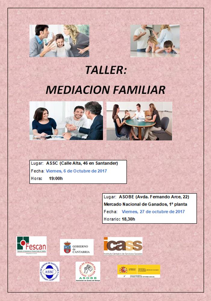 TALLER DE MEDIACIÓN FAMILIAR